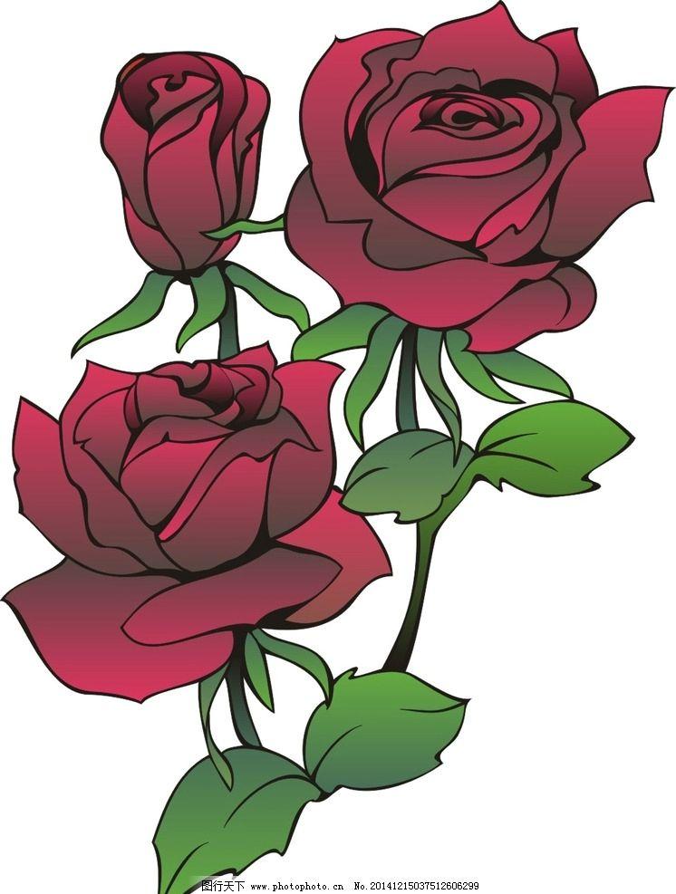 花 玫瑰花 花图案 底纹 广告设计 卡通设计