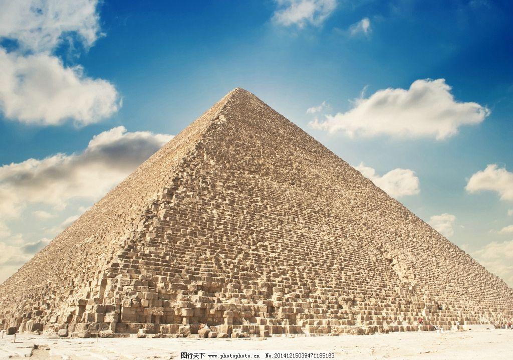 埃及 金字塔 沙漠 蓝天 白云 古迹 人类文明 摄影 摄影 建筑园林 建筑