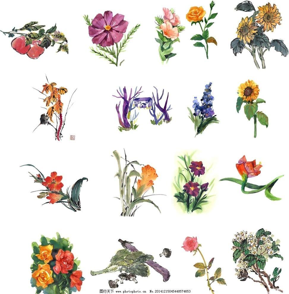 水彩画花朵的步骤图片