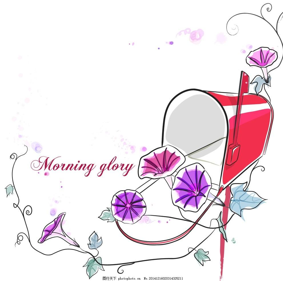 手绘花朵 线条花朵 时尚花纹花朵 花纹背景 花朵图案 花边 边框 欧式
