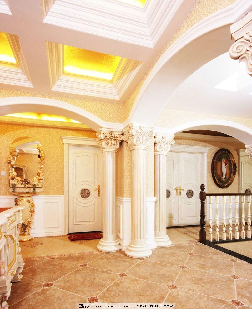 欧式家居 罗马柱 柱子 欧式柱子 大理石柱子  摄影 建筑园林 室内摄影