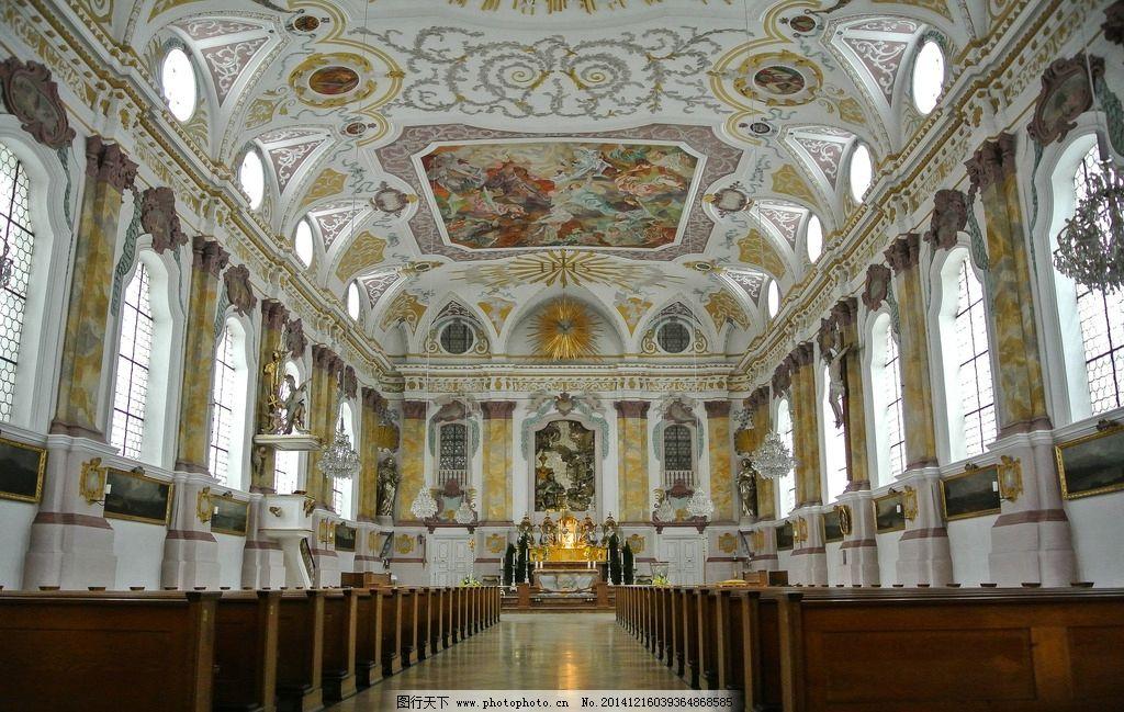 彩绘玻璃 苍穹 宗教 建筑 顶部 仰视 宏伟 雄伟 教堂壁画 壁画 欧洲教图片