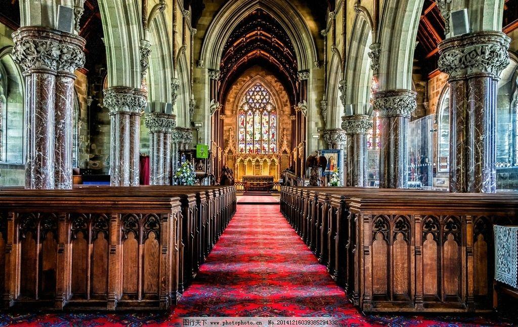 彩绘玻璃 苍穹 宗教 建筑 顶部 仰视 宏伟 雄伟 教堂壁画 壁画 欧洲图片