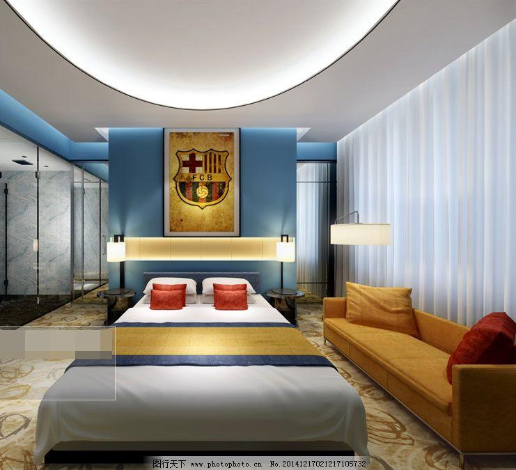 另类卧室 另类卧室免费下载 家居 模型 双人床 室内装饰模型