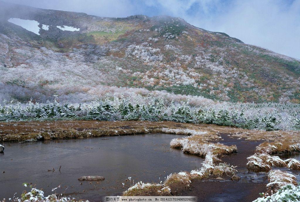 雄伟山峰 最美景观 风景优美 明媚风光 草地 高清美景 蓝天 雪景