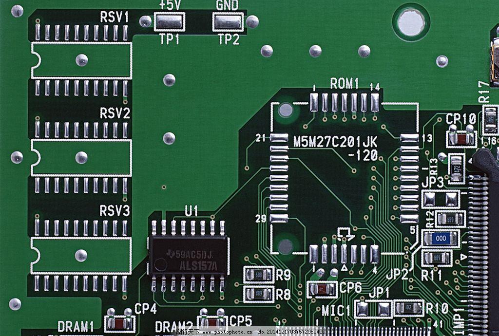 电脑配件 主板 电容 电阻 插槽 科技 电路板 摄影