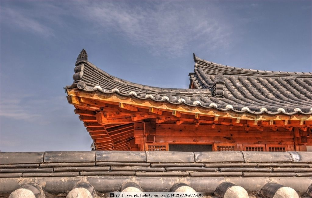 榫卯结构中国古建筑房檐