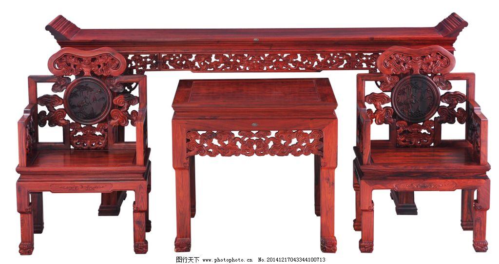 红木家具 中堂 太师椅 翘头案 茶几 传统文化 中式 中国风 设计 文化