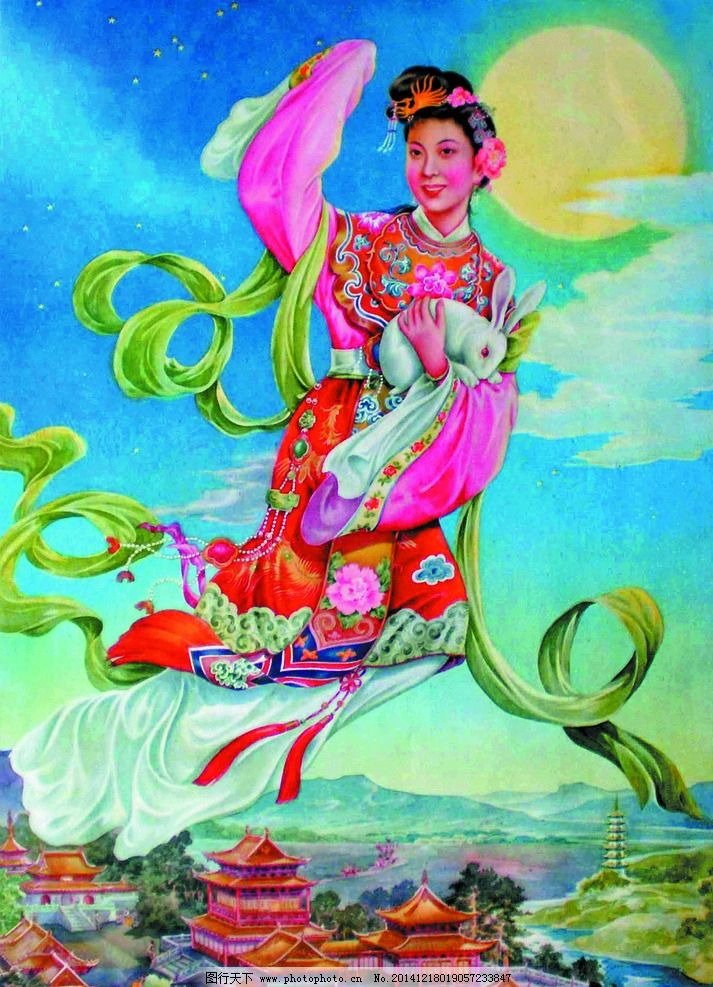 嫦娥玉兔图片 传统文化