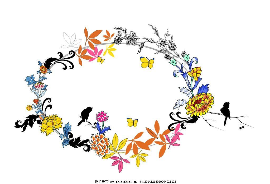 欧式花纹 法式花纹 鲜花 红花 花 花纹 纹理背景 设计 底纹边框 背景图片