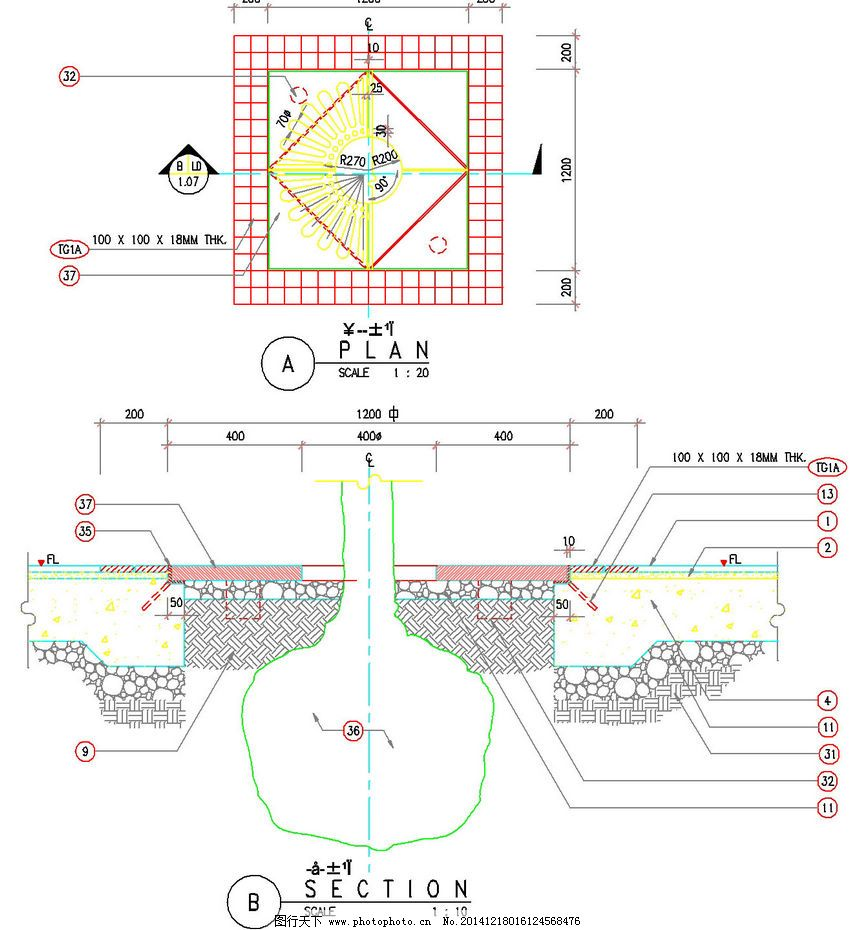公园 设计图cad展示