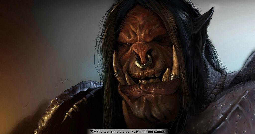 魔兽世界 联盟 兽人 原画 手绘  设计 动漫动画 动漫人物 300dpi jpg