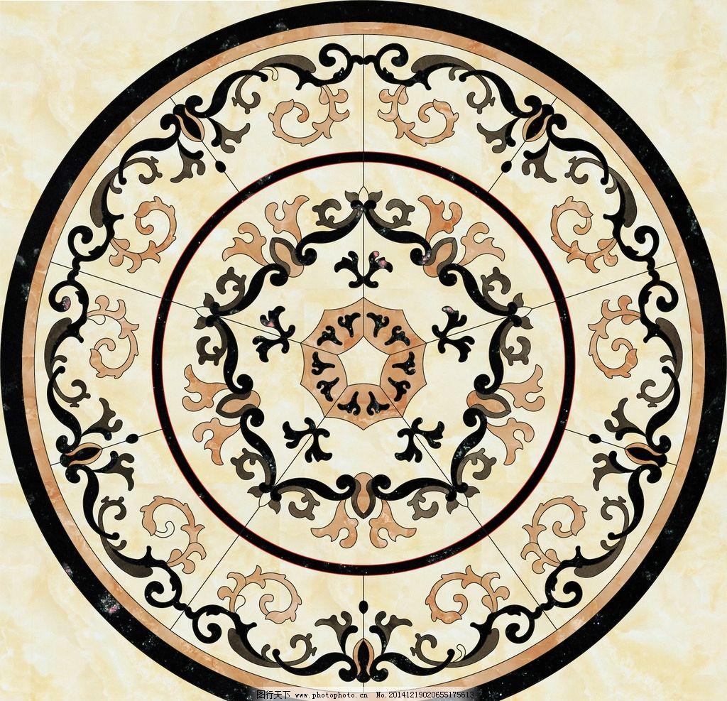 大理石瓷砖地面拼花,建筑园林