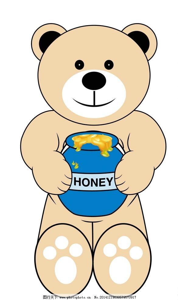 卡通密糖熊图片
