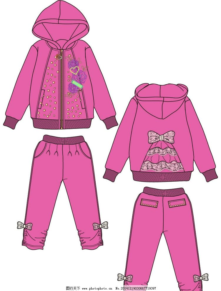 服装 童装 款式 雷丝 套装 设计 广告设计 服装设计 ai