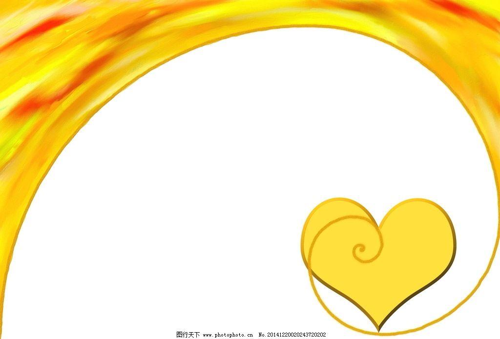手绘爱心 涂鸦 色彩 颜色 彩色 爱心背景 心形背景 设计 底纹边框