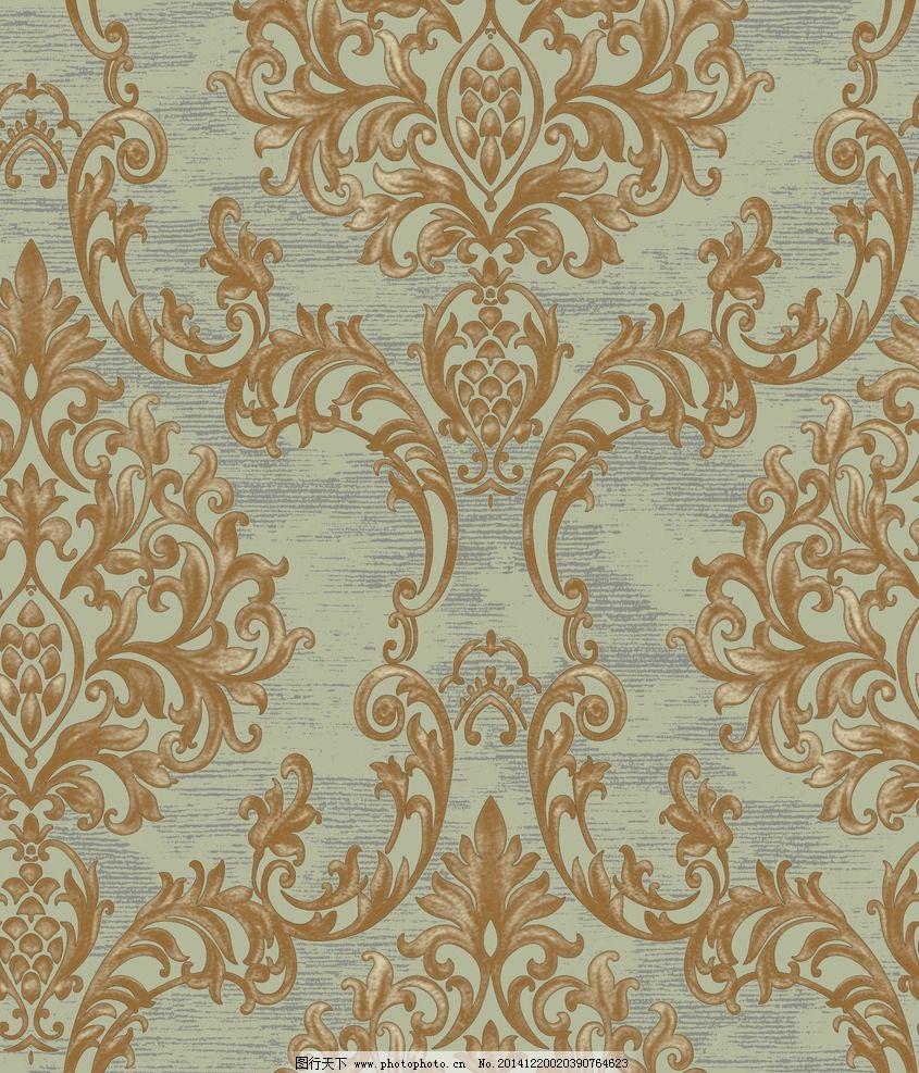 欧式花 大马士革 墙纸 花布 窗帘 沙发 设计 底纹边框 花边花纹 50dpi