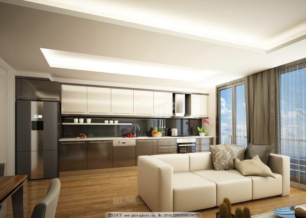 家庭厨房      厨具 冰箱 欧式厨房 开放式厨房 一体式厨房 西式厨房