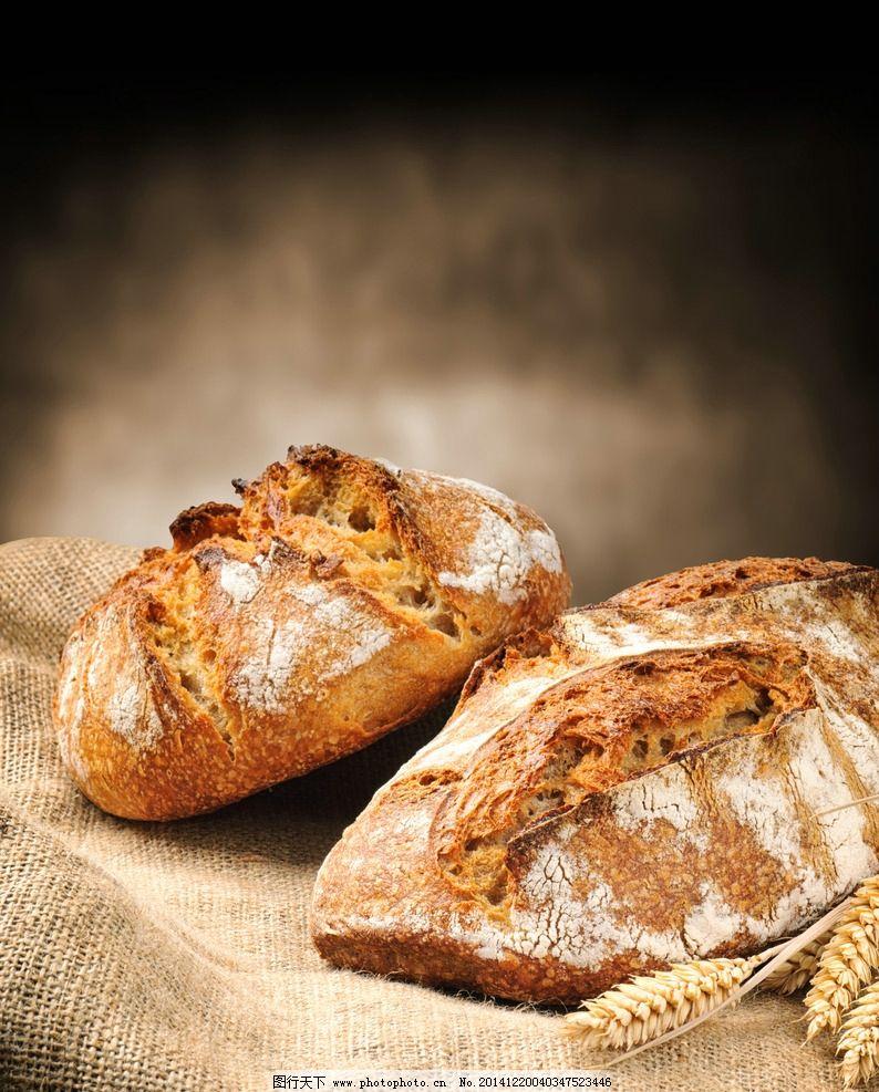 面包 烘焙 烘培 法式 杂粮 面食 法国 麦穗 麻布 意境 下午茶图片