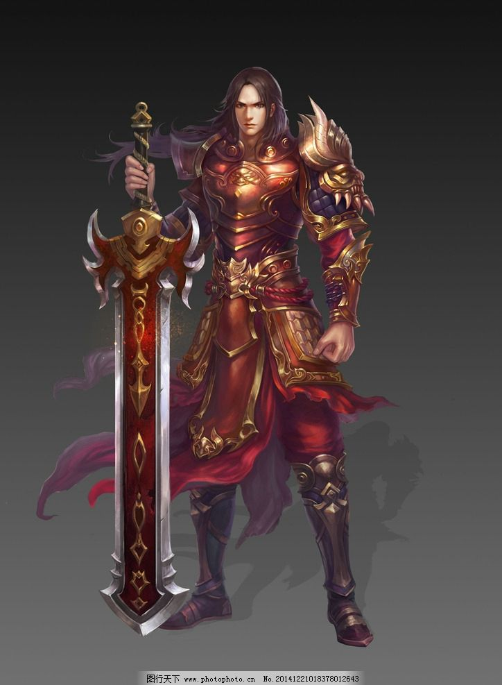 游戏 游戏原画 原画 游戏人物 人设 网游 古装 玄幻 武侠 武将 将军