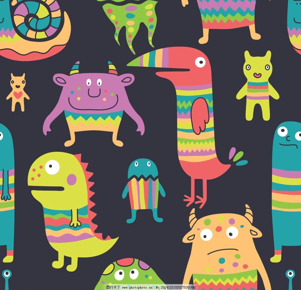 手绘动物海报边框