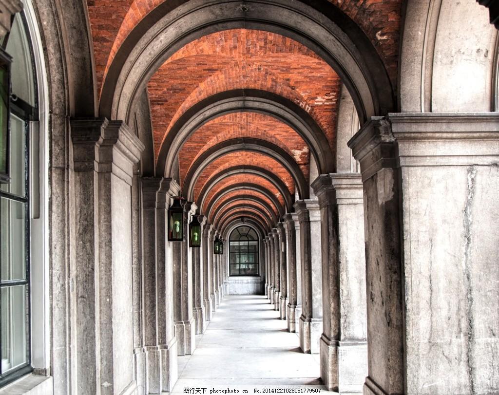 古典走廊 欧式图片背景 欧式背景 时尚底图 浪漫复古 摄影 建筑园林
