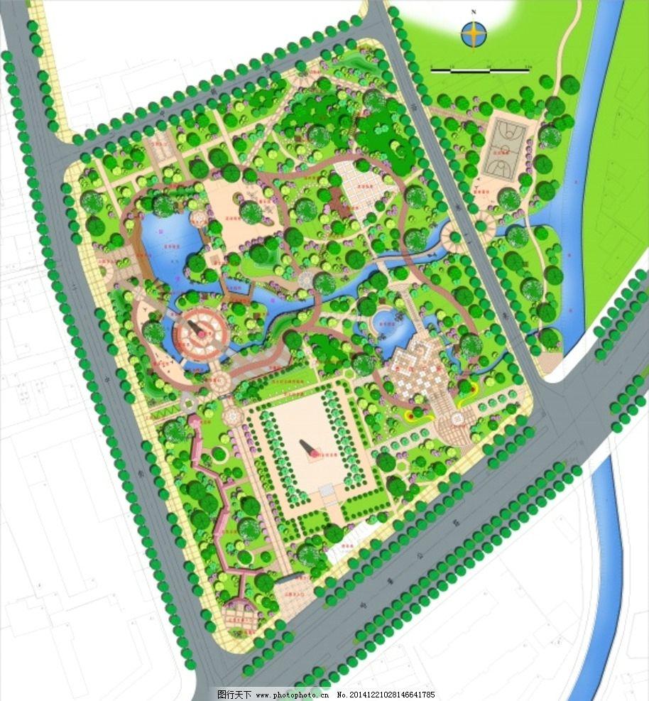 彩色平面图 园林景观平面图图片