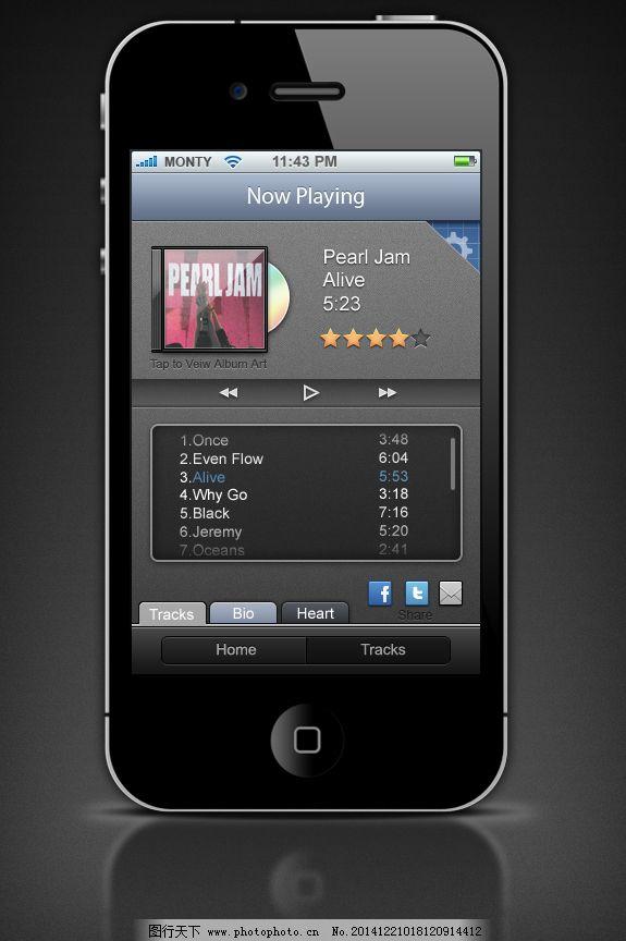 手机音乐界面_app界面_ui界面设计_图行天下图库