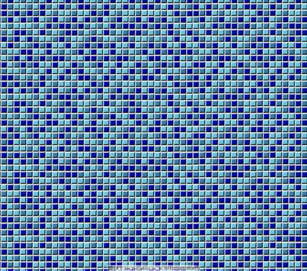 马赛克图片,蓝色 蓝色马赛克 背景墙面 马赛克效果图