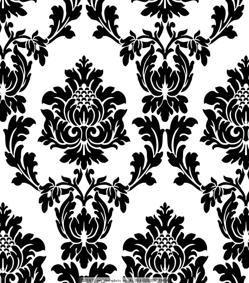 欧式花纹图片,大马士革 欧花 大花 窗帘 沙发 墙纸-图