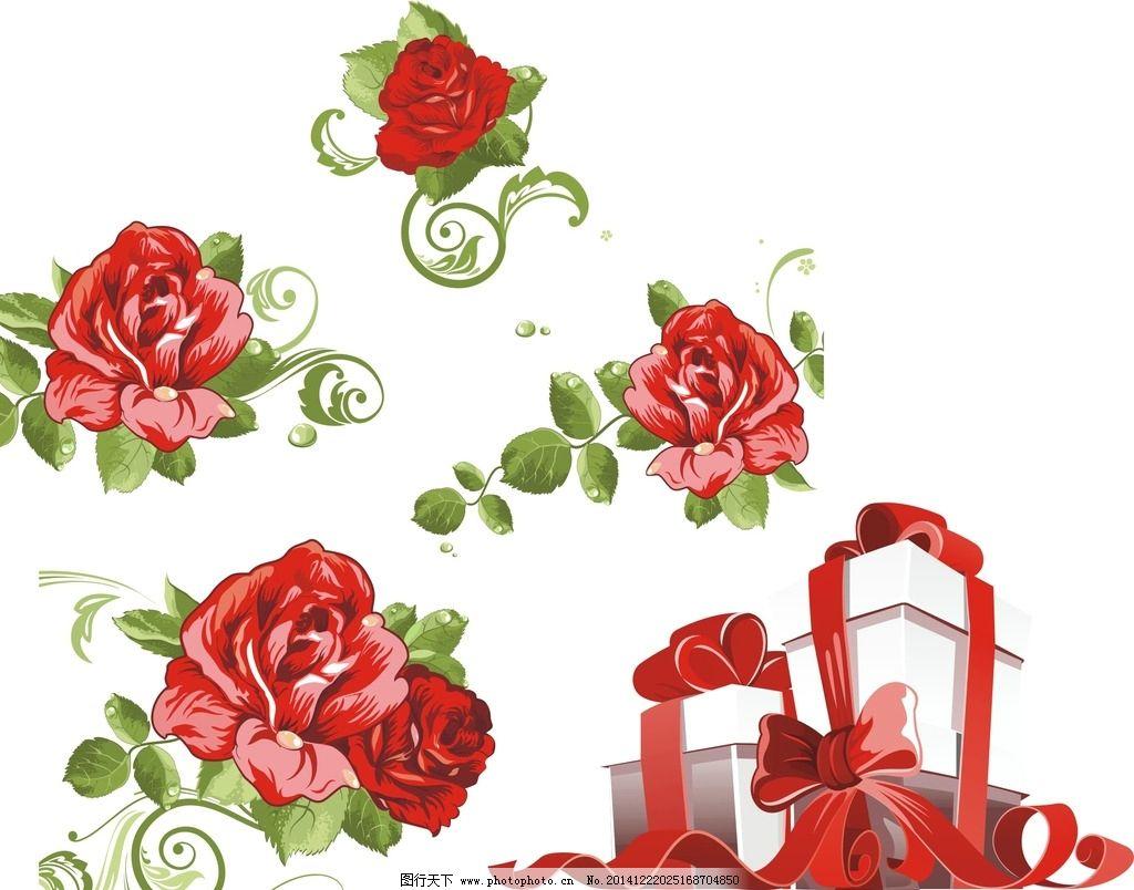 手绘花朵素材 手绘插图