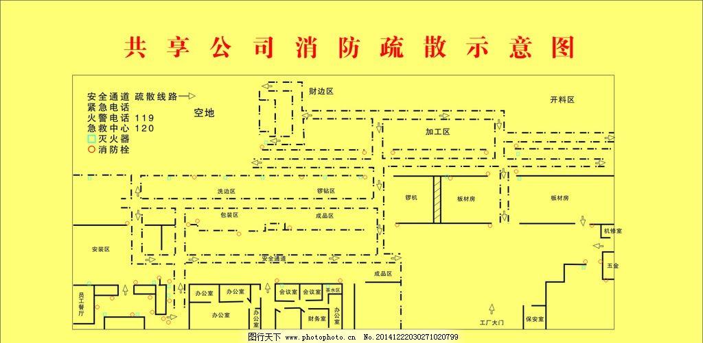 消防 消防疏散 疏散示意图 酒店 宾馆专用 酒店宾馆 办公楼 宿舍 仓库
