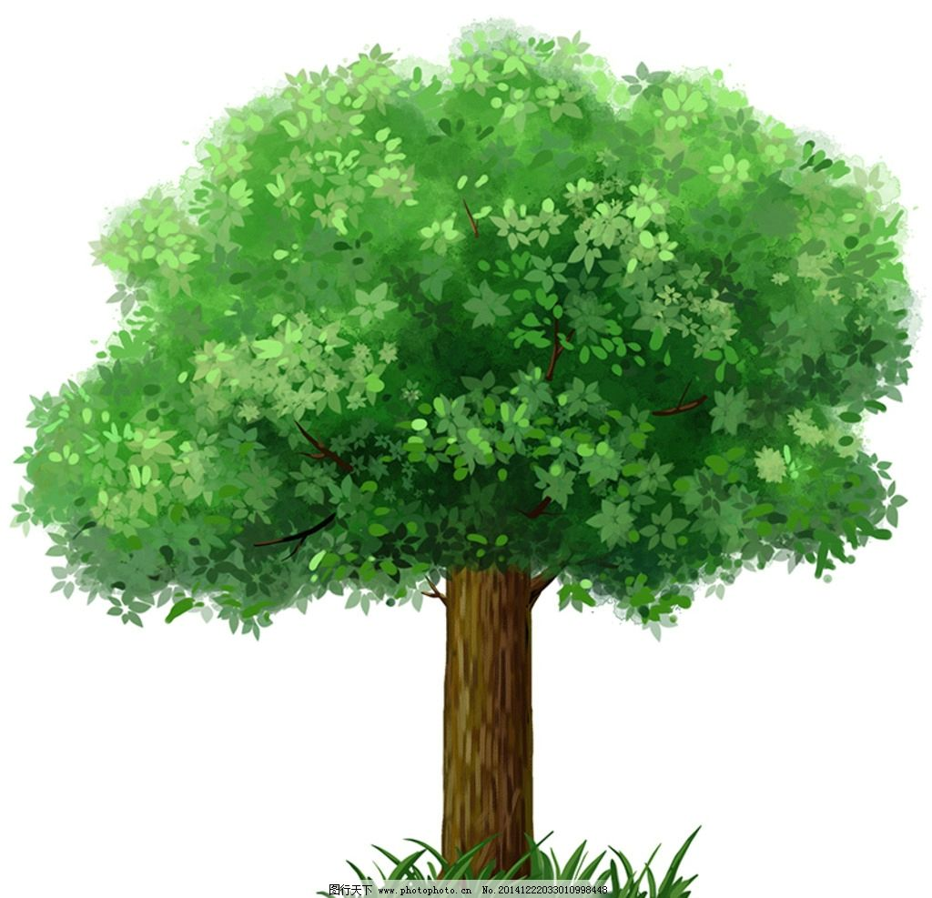 手绘大树图片