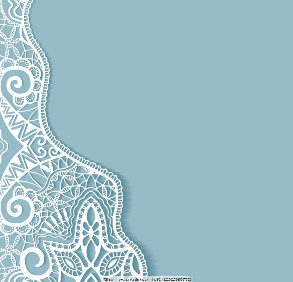 镂空花纹 剪纸花纹 花纹 花边桌巾纸 餐巾纸花纹 花纹背景 边框 花边
