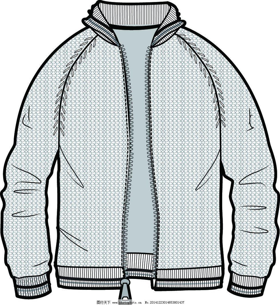 插肩袖夹克 插肩袖夹克免费下载 男款夹克 矢量款式图 原创设计