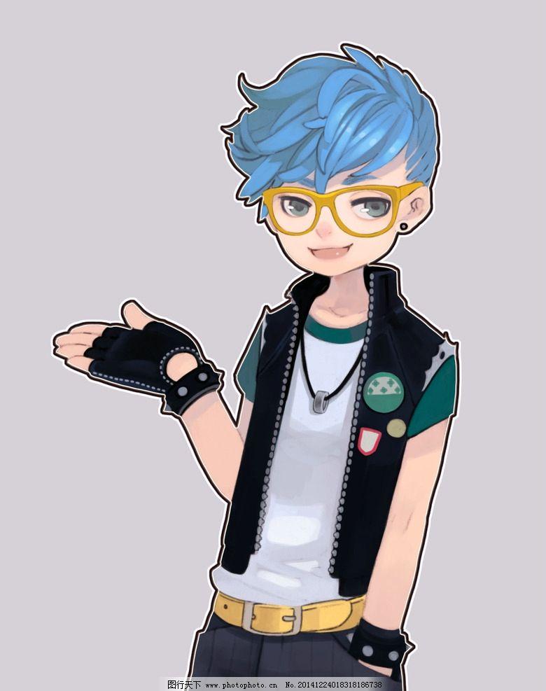卡通 男孩 少年 眼镜 手套 项链 卡通人物 动漫人物 设计 动漫动画