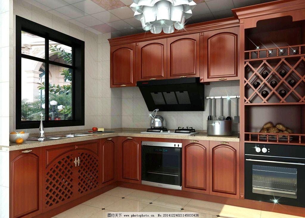 实木厨房 家装效果图图片图片