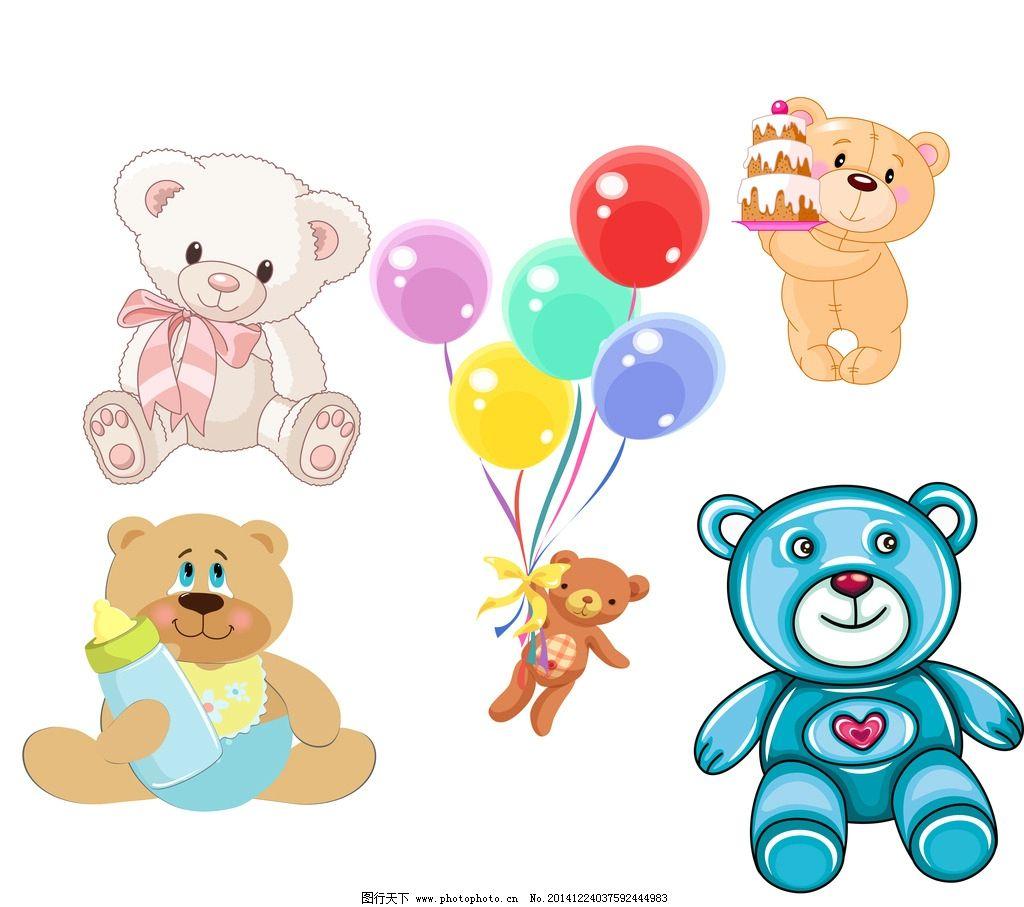 卡通小熊 卡通素材 可爱 手绘素材 儿童素材 幼儿园素材 卡通装饰素材
