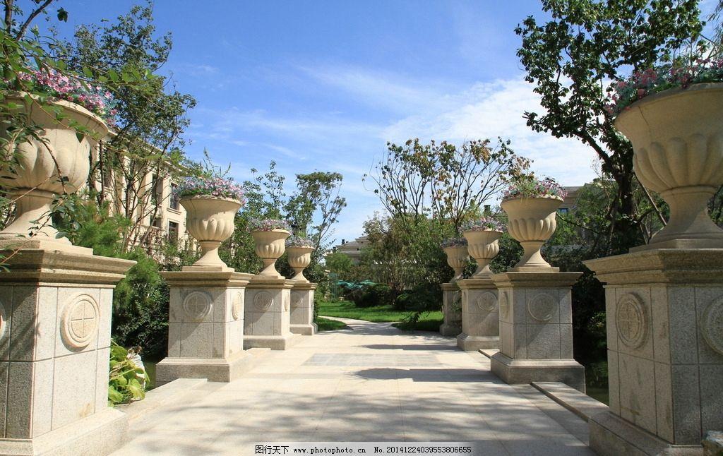 欧式园林景观 园区小品 别墅景观 豪宅风景 豪宅园林建筑 别墅园林 房