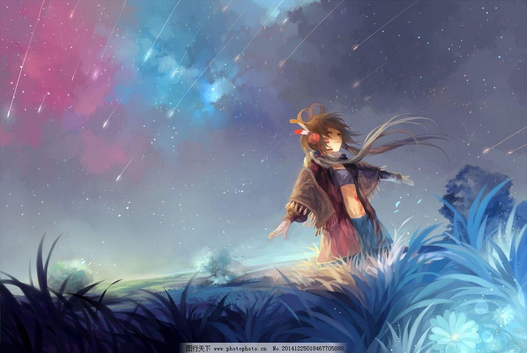 唯美动漫 高清动漫 插图 人物 童话 设计 动漫动画 风景漫画 72dpi