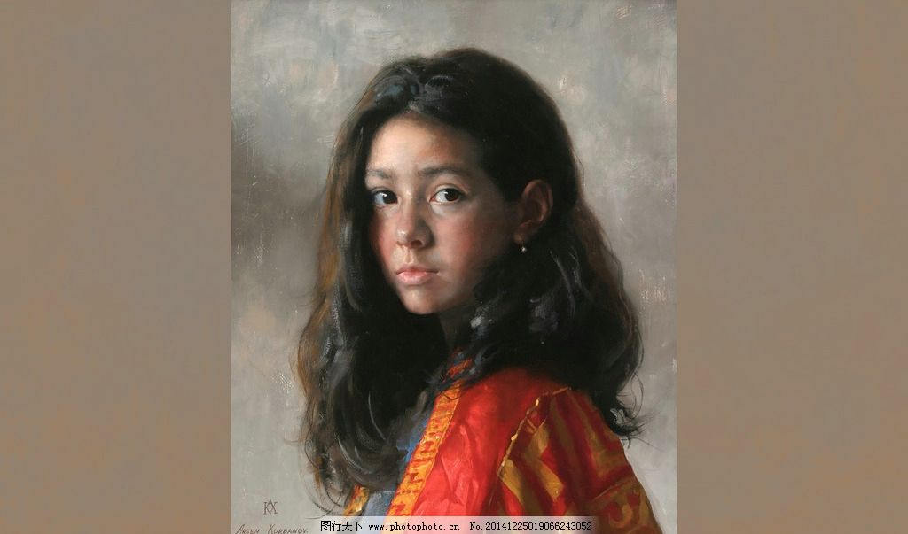 女孩 油画 写实油画 油画猫 人物油画 国外写实油画 油画美女
