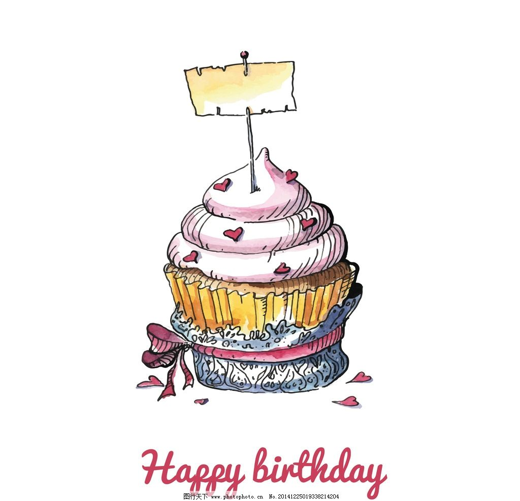 生日背景 手绘 贺卡 卡片
