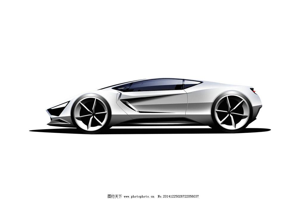 概念车 汽车 手绘 渲染 二维 设计 现代科技 交通工具 52dpi jpg