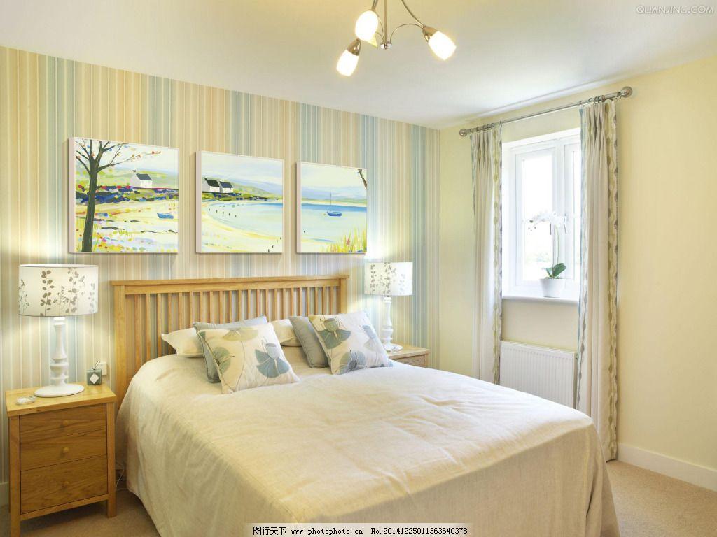 小清新卧室装修 实木家具 卧室效果图 现代卧室效果图 现代风格卧室