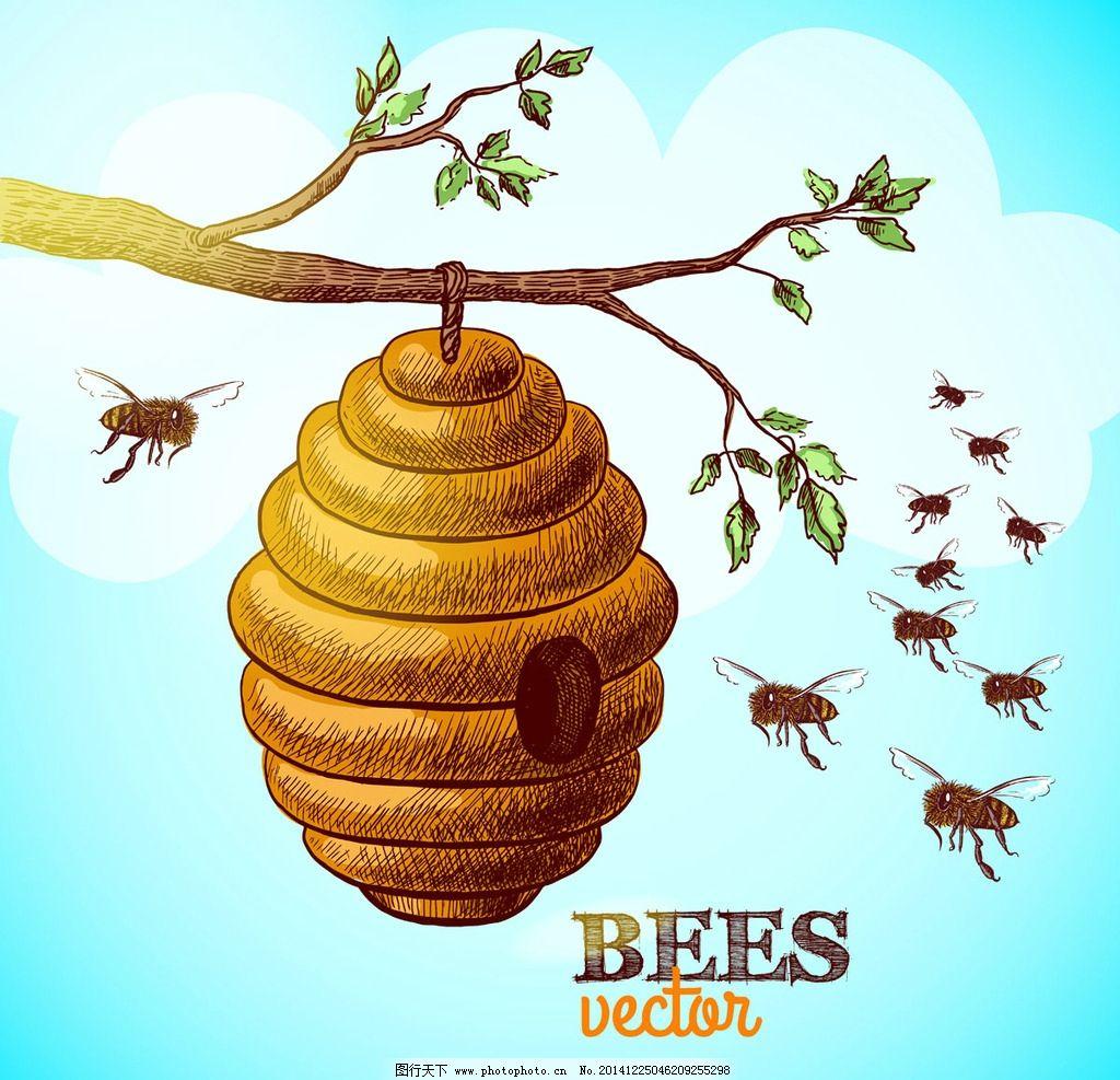 蜂蜜 蜂蜜设计 手绘 蜂蜜广告