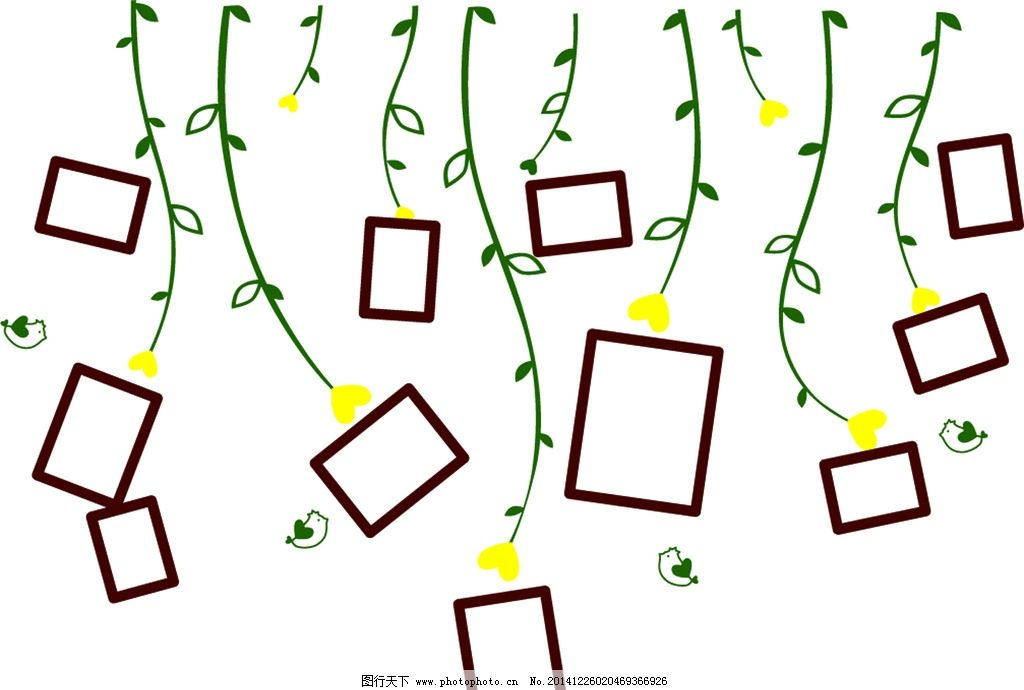 线条 线条图 硅藻泥 矢量 照片墙 相框 设计 底纹边框 边框相框 ai
