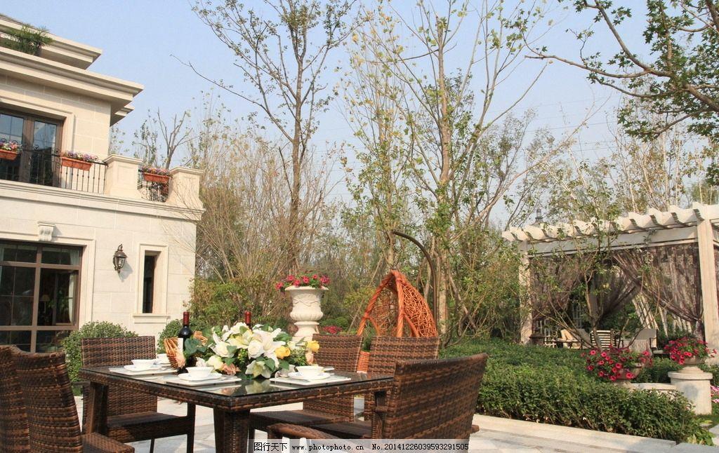 豪宅园林 景观园林 别墅园林 园区小品 欧式花园 房地产 摄影 建筑