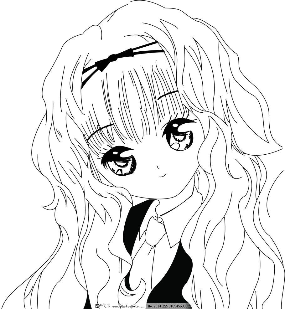 女生 守护甜心 线稿 漂亮 可爱 动漫  设计 动漫动画 动漫人物  ai