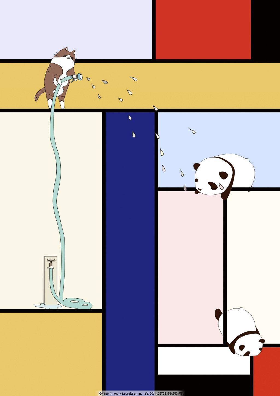 格子色彩方块jpg免费下载 动物 方块 格子 色彩 格子 色彩 动物 方块