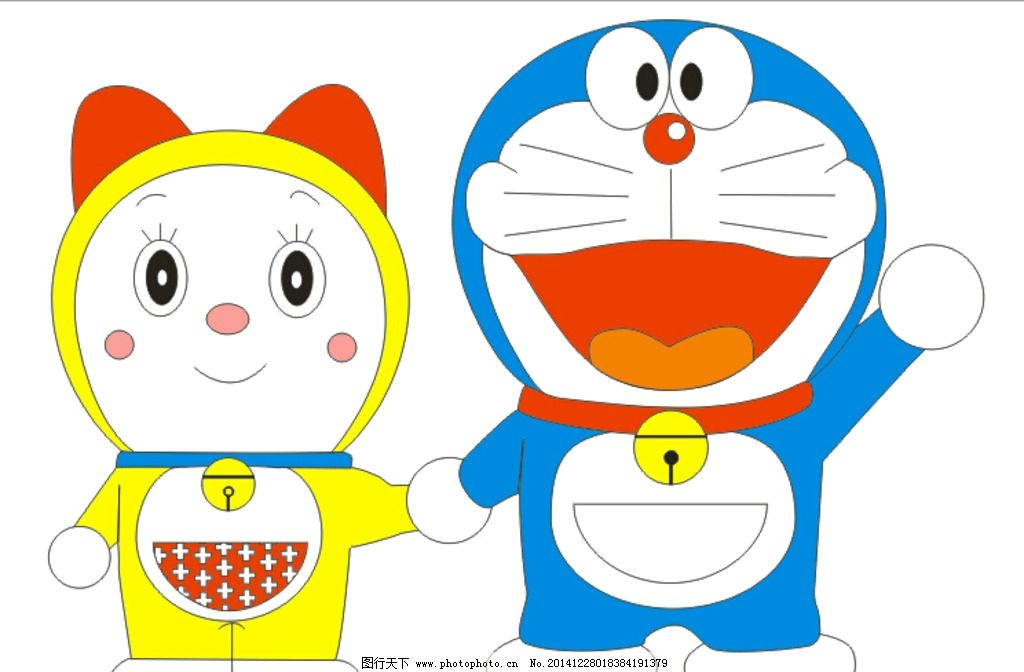 哆啦a梦 牵手 爱情 动漫 兄妹 设计 动漫动画 动漫人物 cdr